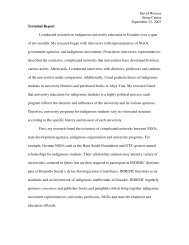 David Weaver Stone Center September 22, 2007 Terminal Report I ...