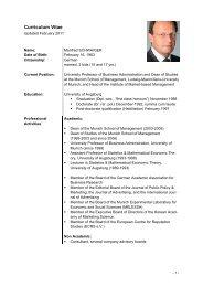 Curriculum Vitae - Institut für Marktorientierte Unternehmensführung ...