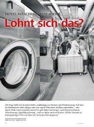 hotel-wäscherei auslagern: - hoteljournal.ch