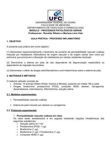 Processo Inflamatório - Universidade Federal do Ceará