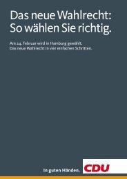 Das neue Wahlrecht - CDU Kreisverband Harburg