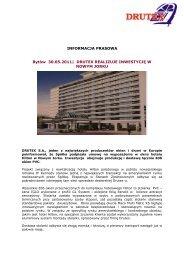INFORMACJA PRASOWA Bytów 30.05.2011| DRUTEX REALIZUJE ...