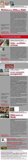 Programm 2013 - Kunstverein Oberer Zürichsee - Page 2