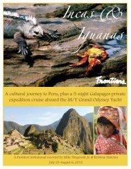 Incas & Iguanas.indd - Frontiers Elegant Journeys