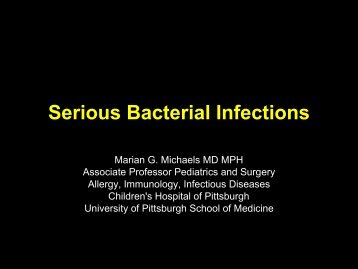 Serious Bacterial Infections