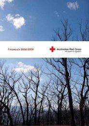Financials 2008/2009 - Australian Red Cross