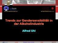 Alfred Uhl: Trends zur Gendersensibilität in der Alkoholindustrie