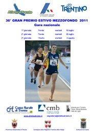 36º Gran Premio Mezzofondo 2011 - Atletica Trento