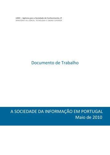 A Sociedade da Informação em Portugal – Maio de 2010 - Umic