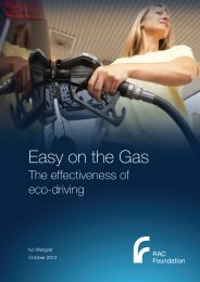 Easy on the Gas - Wengraf - October 2012 - RAC Foundation