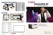 Compatibility of Accesories for DIGISUPER 27 - Canon