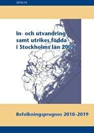 In- och utvandring samt utrikes födda i Stockholms län 2009