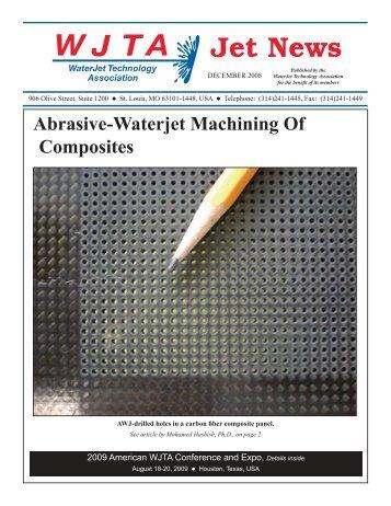 Abrasive-Waterjet Machining Of Composites - Waterjet Technology ...