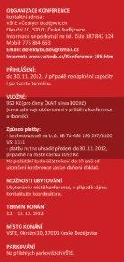 Pozvánka na konferenci Defekty Budov 2012 - Vysoká škola ... - Page 5