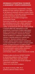 Pozvánka na konferenci Defekty Budov 2012 - Vysoká škola ... - Page 6