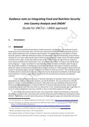 Guidance note on integrating Food and Nutrition Security into ...