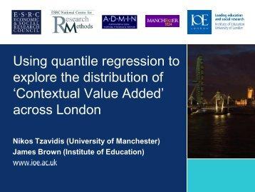 "Using quantile regression to explore the distribution of ""Contextual ..."