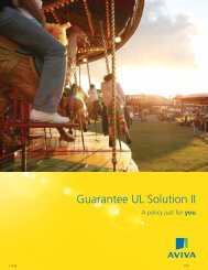 Aviva Life Guarantee UL Solution II A policy just for ... - Shaw American