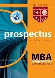 MBA Prospectus - The Cyprus Institute of Marketing