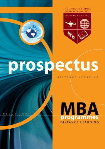 MBA Prospectus - The Cyprus Institute of Marketing