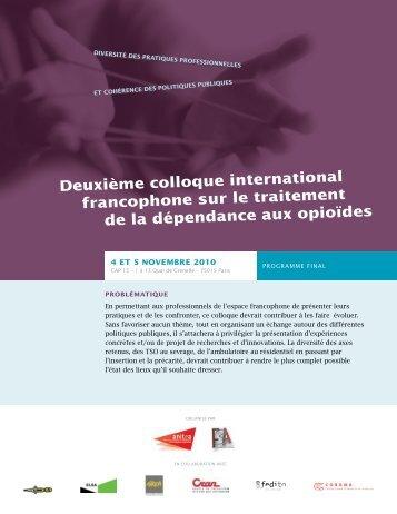 deuxième colloque international francophone sur le traitement de la ...
