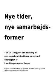 Nye tider, nye samarbejdsformer - DATS