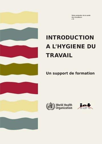 Livre d'hygiène du travail (support format PDF) - Institut universitaire ...
