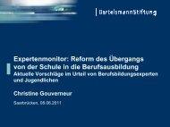 Reform des Ãœbergangs von der Schule in die Berufsausbildung