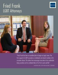 Fried Frank LGBT Attorneys Brochure