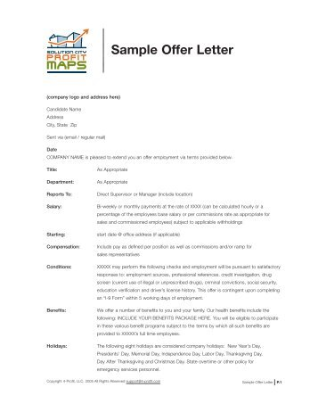 Sample Offer Letter   ScanSource