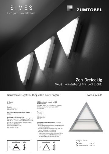 Zen Dreieckig - SIMES SpA
