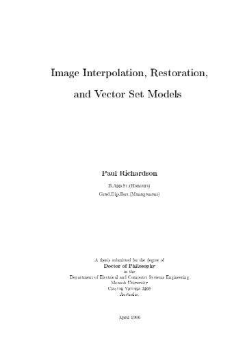 Image Interpolation, Restoration, and Vector Set Models