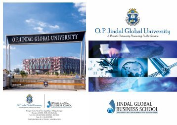 O. P. Jindal Global University - Jsia.edu.in