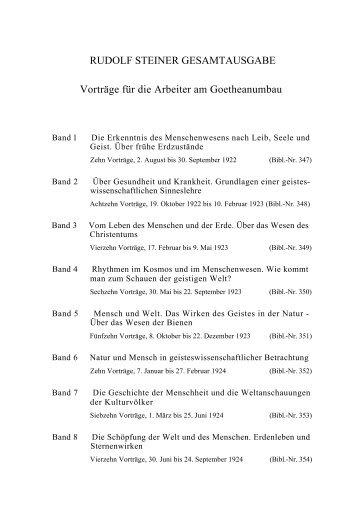 RUDOLF STEINER GESAMTAUSGABE Vorträge für die Arbeiter am ...