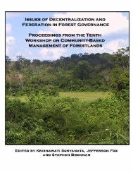 Issues of Decentralization and Federation in ... - East-West Center