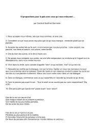 10 propositions pour la paix avec ceux qui nous ... - Webagoo.eu