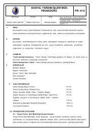 Sosyal Yardım İşleri Müdürlüğü Prosedürü - Kartal Belediyesi