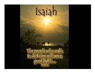 Isaiah 9:6 - Congregation Yeshuat Yisrael