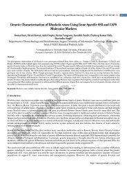 Genetic Characterisation of Rhodiola rosea Using ... - AstonJournals