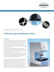 FT-IR microscopic identification of fibers - Bruker