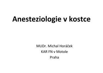 Anesteziologie v kostce medici čb pdf 2011 - 2. lékařská fakulta