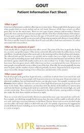Patient Information Fact Sheet - MPR