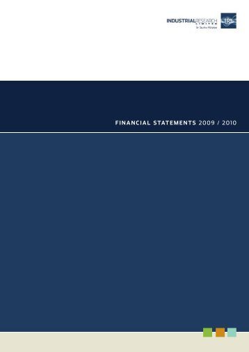 FINANCIAL STATEMENTS 2009 / 2010 - Industrial Research Limited