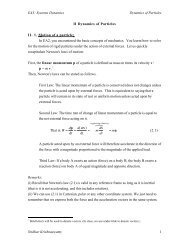 EA3: Systems Dynamics Dynamics of Particles Sridhar ...