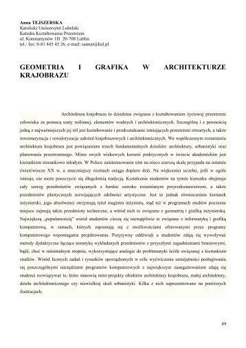 geometria i grafika w architekturze krajobrazu.