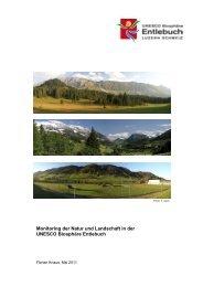 Natur / Ökomonitoring in der UNESCO Biosphäre ... - ETH Zürich