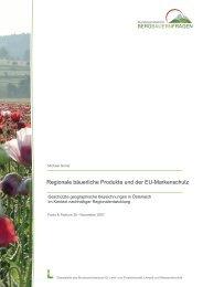 Regionale bäuerliche Produkte und der EU-Markenschutz