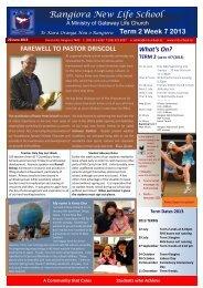 2013 Term 2 Week 7 (20 June) - Rangiora New Life School ...