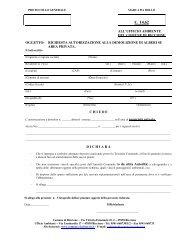 Domanda abbattimento alberature private - Comune di Riccione