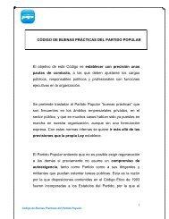 CÓDIGO DE BUENAS PRÁCTICAS DEL PARTIDO POPULAR El ...